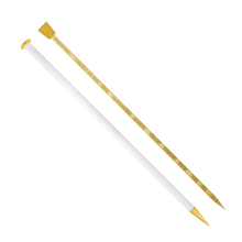 Champagne Plastic Knitting Needles